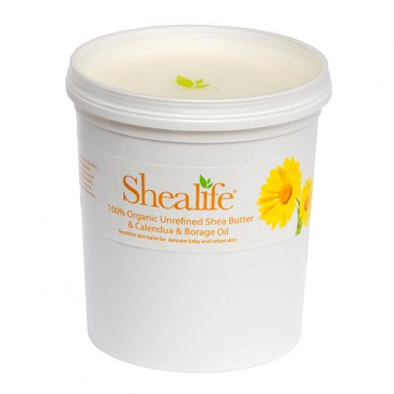 Shea Life100% Organic Unrefined Shea Butter, with Calendula Oil & Borage Oil,  1Kg