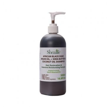 African Black Soap, ARGAN OIL, +SHEA BUTTER& COCONUT OIL SHAMPOO HAIR RESTORATION & INTENSIVE MOISTURSING FORMULA, 500ml