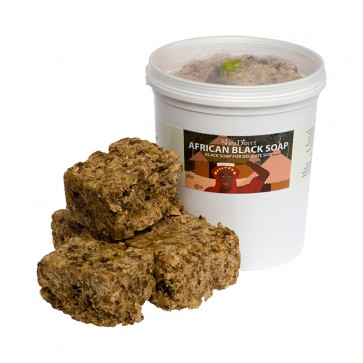 African Black Soap, RAW SOLID, 150g